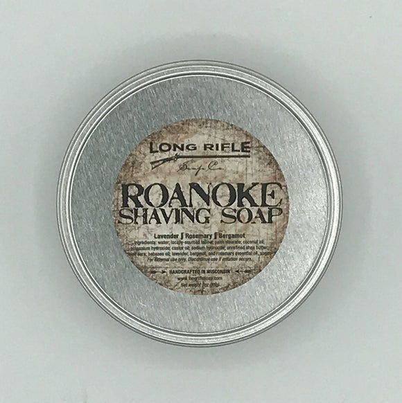 Long Rifle Soap Co. Shaving Soap, Roanoke 3 oz Puck