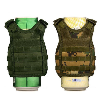 Tactical Mini MOLLE Vest Drink and Bottle Sleeve Cover