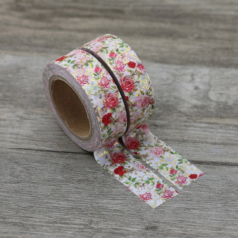 Luxury Paper Foil Washi Tape- Floral