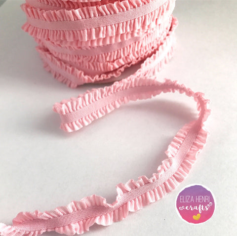 Frilly Baby Pink Ruffle FOE Hair Elastic