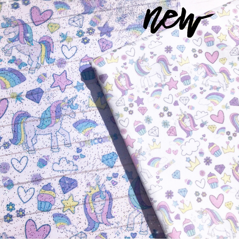 Exclusive Matching Unicorn Craze Fabric Felt & Unicorn craze Glitter Tou