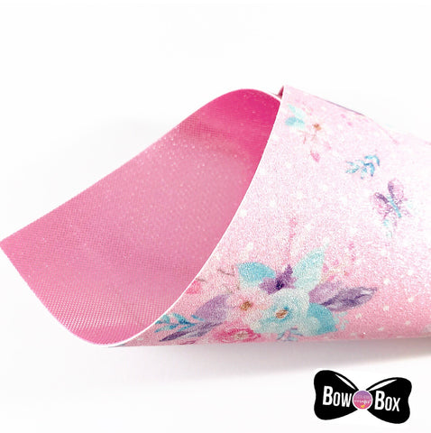 Bow Box Double Sided Butterfly Fine Glitter Fabrics
