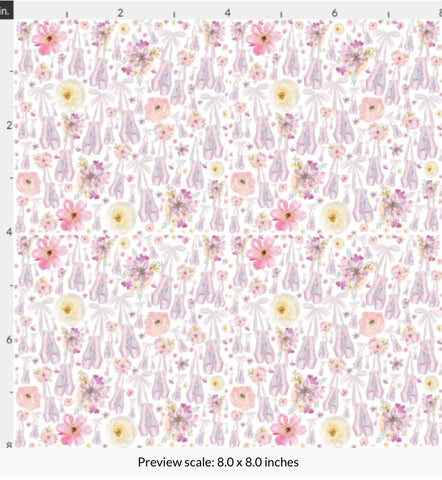 EHC Mini Ballet Shoes Fabric Felt