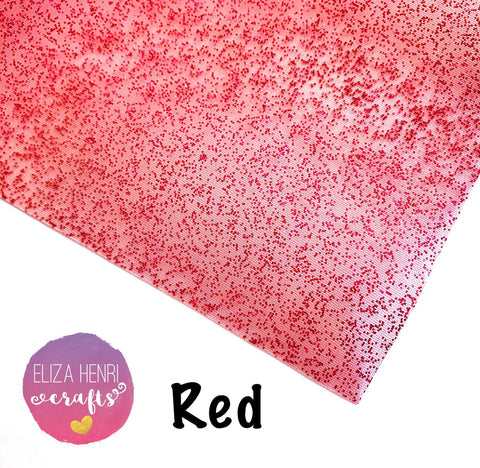 Clear Red Glitter TPU Fabric