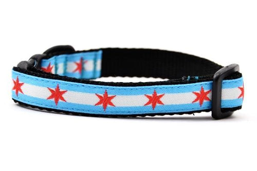 Chicago Flag Breakaway Cat Collar