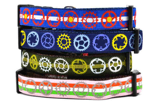 Bicycle Sprockets Dog Collars