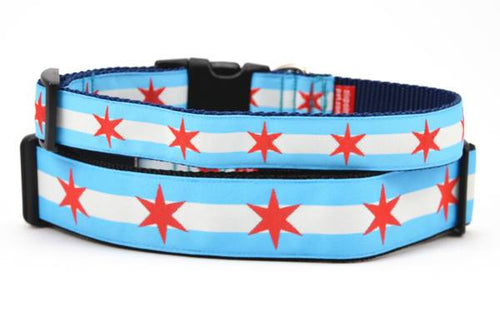 Chicago Flag Dog Collars