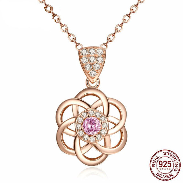 Genuine 925 Sterling Silver Flower of Life Pendant Necklace *** FREE SHIPPING *** - Delivered Value