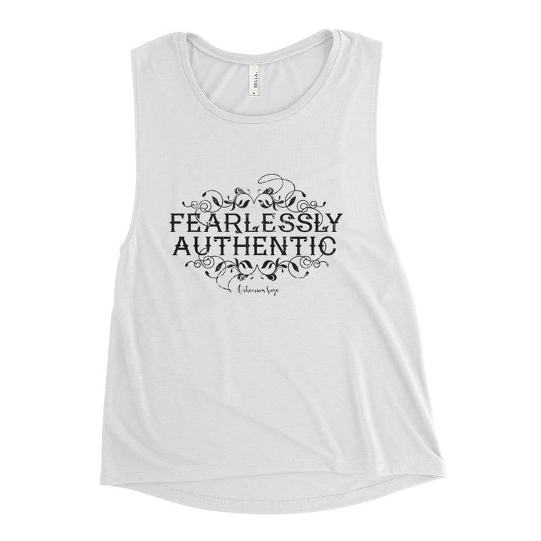 Ladies' Soft Yoga Muscle Tank | Fearlessly Authentic