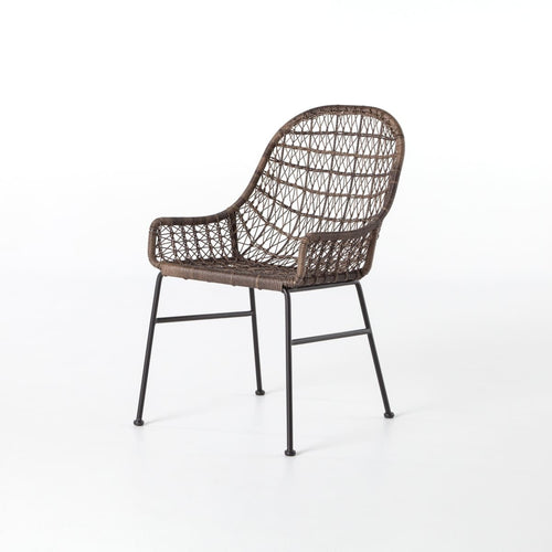BANTERA OUTDOOR DINING CHAIR LOW ARM: Natural Black Distressed Grey - Dining Chair