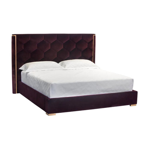 CALLEN KING - ROSE GOLD - GIOTTO CABERNET FABRIC - BED