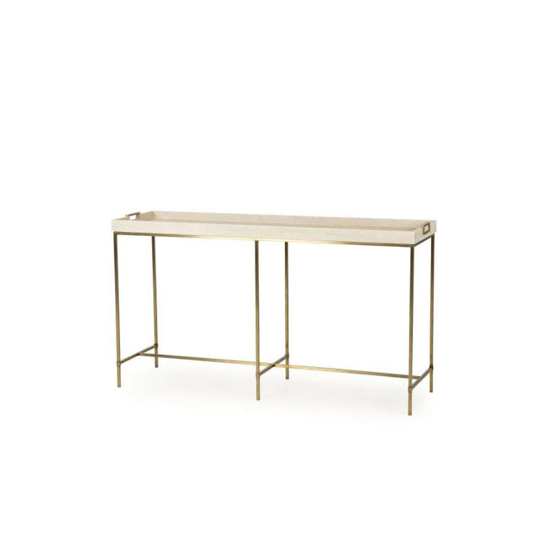 EDMUND CONSOLE TABLE (IVORY SHAGREEN) - console table