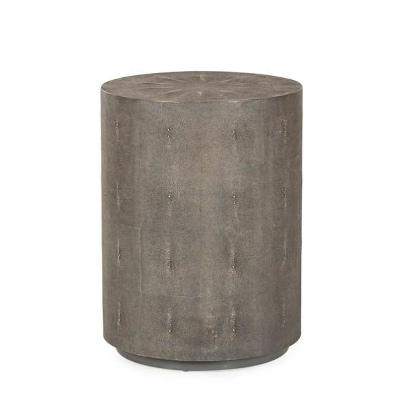 EVERARD SIDE TABLE (CHARCOAL SHAGREEN) - side tables