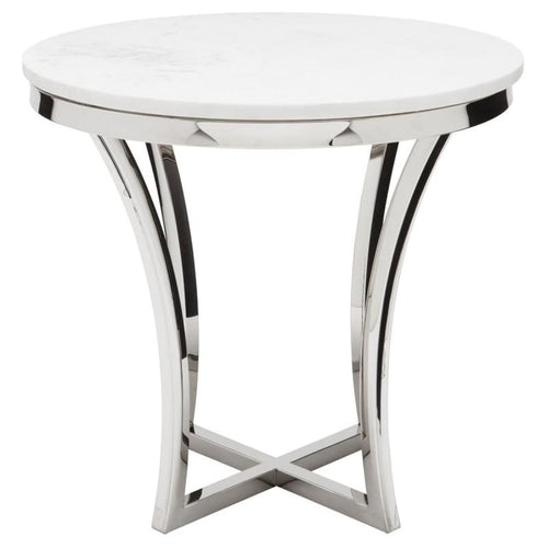 FORTINO SIDE TABLE WHITE - Accent Table