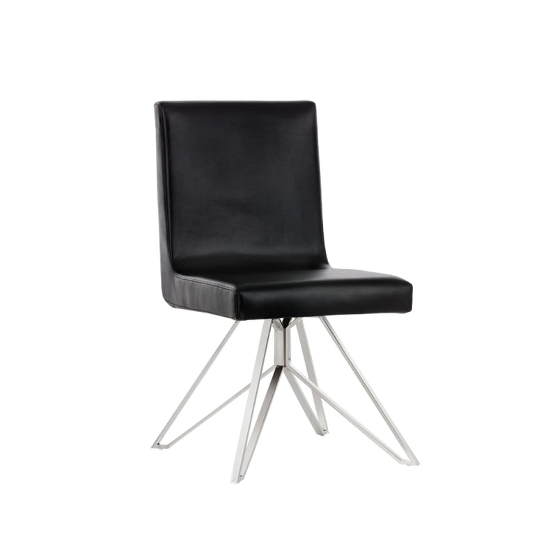 LEANDRO SWIVEL DINING CHAIR BLACK - Dining chair