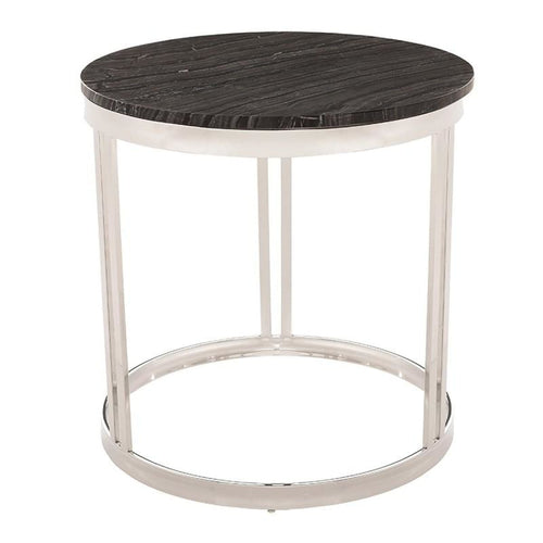 PEMTON SIDE TABLE BLACK STAINLESS - END TABLE