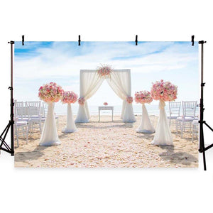 Wedding Backdrops Sky Background Flowers G-219
