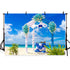 Wedding Backdrops White Backdrops Blue Background G-225