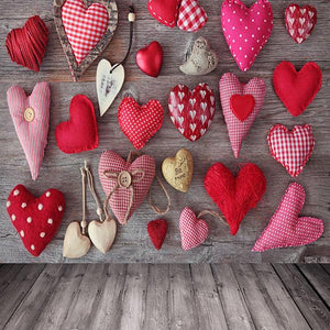 Themed Patterned Backdrops Hearts  Background Backdrop S-2668