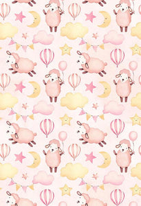 Polka Dot Printed Backdrops Pink Background Sheep Backdrop S-2858