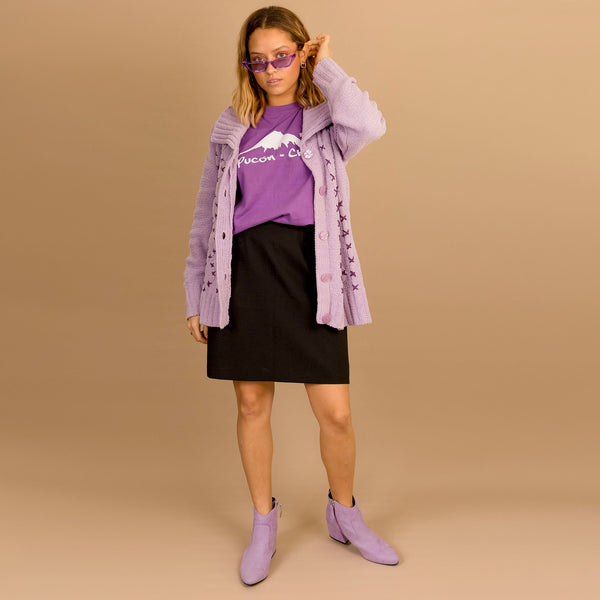 Pastel Purple Knit