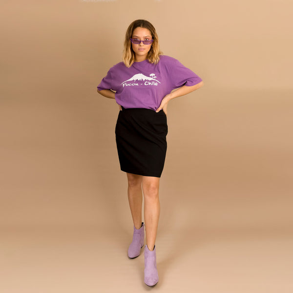 Purple Pucon Chile Tee