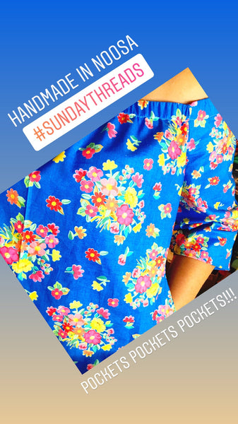 Noosa Sunday Dress-blue Havana