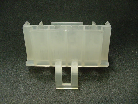 4 Way Terminal Housing With Tab Female Natural Delphi Packard, Terminal Housing, Connector Housing, 56 Series 08917102