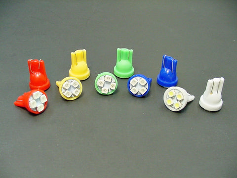10 Mixed Color SUPER BRIGHT #194 Instrument Panel LED's