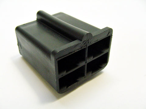 4 Way Terminal Housing With Barb Female Black Delphi Packard, Terminal Housing, Connector Housing, 56 Series 2944048