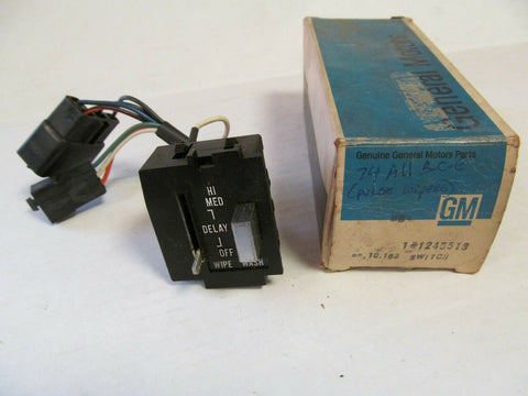 NOS Windshield Wiper Switch with Delay 1974 Buick Full Size #1245518