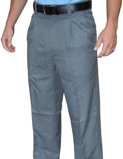 BBS376HG-Smitty Pleated Plate Pants w/ Expander Waist Band - Available in Heather Grey