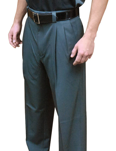 "BBS391CG-""4-Way Stretch"" Pleated Combo Pants-Charcoal Grey Only"