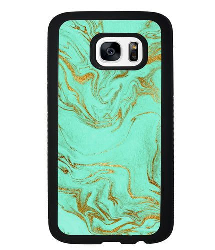 Mint and Gold Marble | Samsung Phone Case