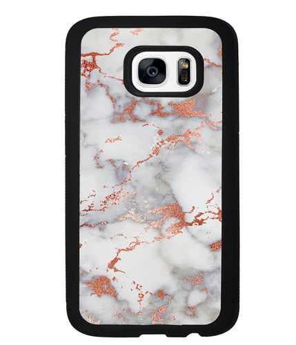 Rose Gold White Marble | Samsung Phone Case