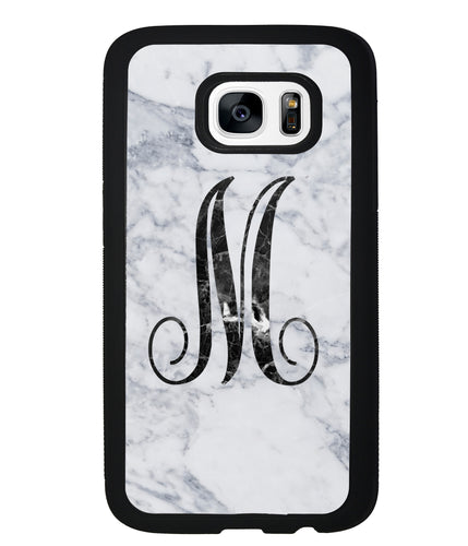 White Marble Initial | Samsung Phone Case