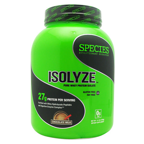 Species Nutrition Isolyze - Chocolate Milk - 44 Servings - 855438005598