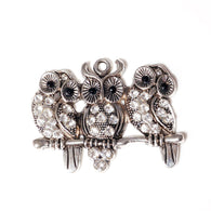 Diamante Owl Trio Pendant