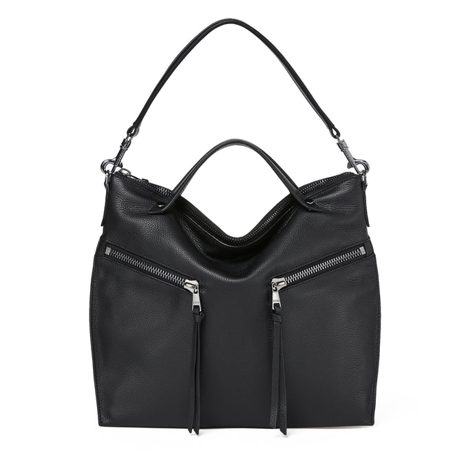 trigger convertible hobo black front