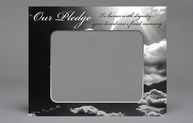 "Our Pledge 16"" x 20"" Funeral Home Exclusive"