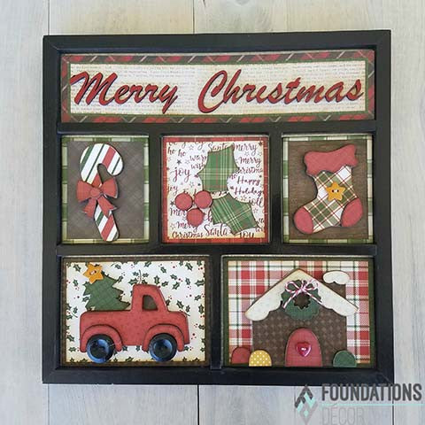 Christmas Shadow Box Kit