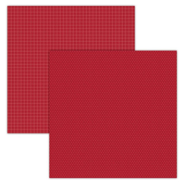 Foundation Paper - Plaid / Dots - Red