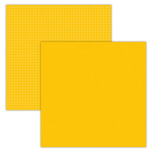 Foundation Paper - Plaid / Dots - Yellow