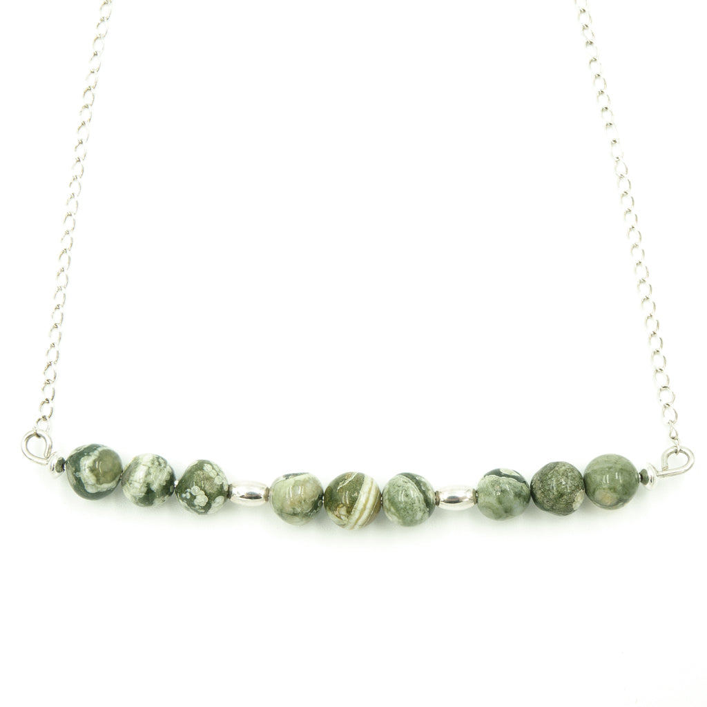 Sterling Silver Rainforest Necklace - Handmade Artisan Jewelry