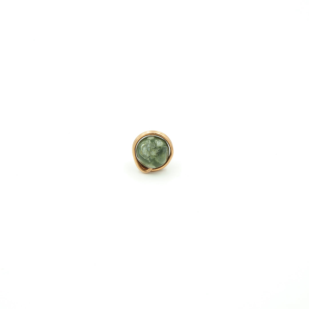 Copper Wrapped Rhyolite Single Stud