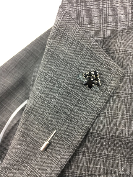 Suit lapel pin for Real Estate Professionals. The House apel pin from Mesa Jewelry and Real estate Agent. Men's collection featuring Swarovski crystals.