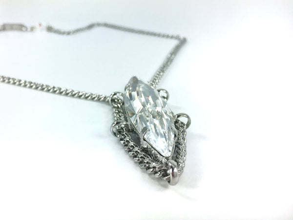 MESA Jewelry Vault Collection Necklace Swarovski Navette Crystal