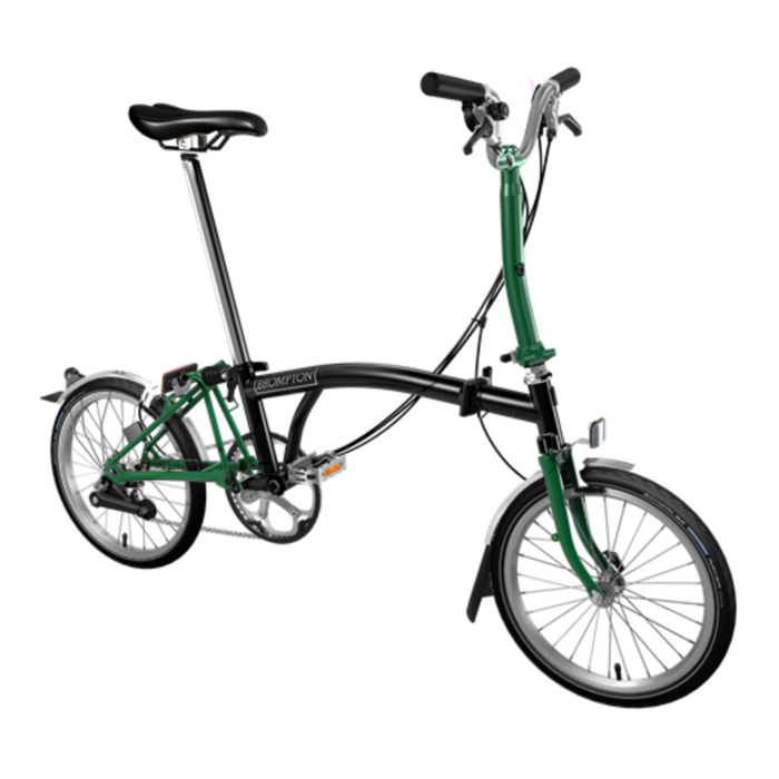 Brompton M6L 2019 - Black/Racing Green