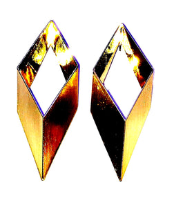 Golden Diamond Shape earrings  Ole