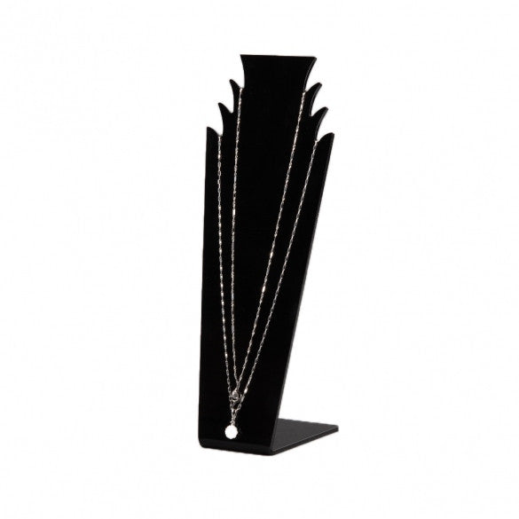 Black Acrylic Cute L-shaped 3 Rooms Display Stand Rack F. Home Store Size Medium